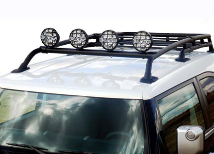 Fj cruiser parts accessories fj cruiser front light bar with 6 fj cruiser parts accessories fj cruiser front light bar with 6 black lights with existing factory roof rack by plus1 mozeypictures Choice Image