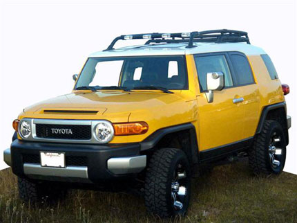 Fj cruiser parts accessories fj cruiser low profile front light bar fj cruiser parts accessories fj cruiser low profile front light bar with existing factory roof rack by plus1 accessories mozeypictures Choice Image